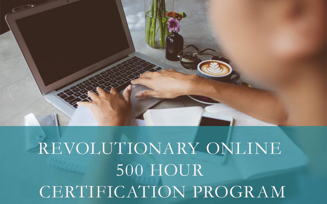 Revolutionary Online 500 hour Certification Program